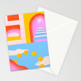Six Suns Rising Stationery Cards