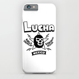 AMO LA LUCHA LIBRE3 iPhone Case