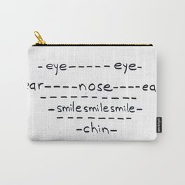 Smiley Face Carry-All Pouch
