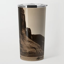 Navajo Riders - Canyon de Chelly - Edward Curtis Photo Print Travel Mug