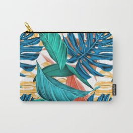Tropical Summer Exotic Green Plant Palm Leaves Carry-All Pouch
