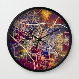 Iowa City Map Wall Clock