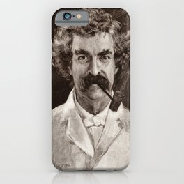 Mark Twain Engraved Portrait iPhone Case