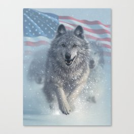 Running Wolves America Canvas Print