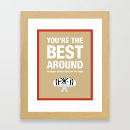 Karate Kid You're the Best Around Song Lyric Poster Framed Art Print