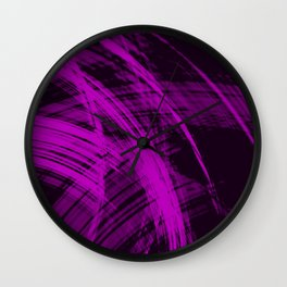 Falling fading fibers  bright lines with glamorous energy of futuristic abstraction. Wall Clock