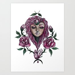 have you ever loved a rose? Art Print