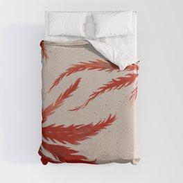 Large Japanese Maple Leaves Duvet Cover