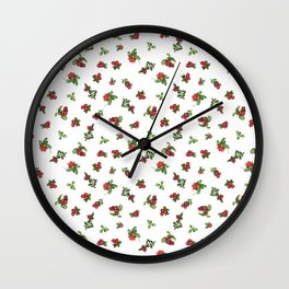 Cranberries white background Wall Clock