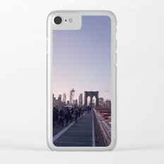 Purple New York City Clear iPhone Case