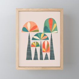 Quirky retro palm trees Framed Mini Art Print