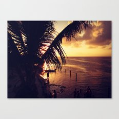 Sunset Dip Canvas Print
