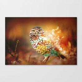 Owl on Fire by GEN Z Canvas Print