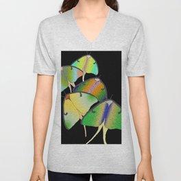 Luna Moths Unisex V-Neck