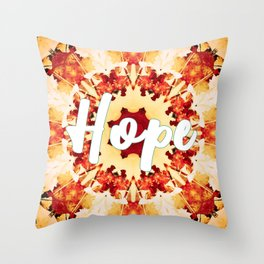 Mandala of the Month: Hope Throw Pillow