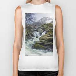 Snow Covered Tryfan Biker Tank
