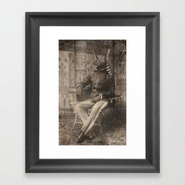 Dark Victorian Portrait Series: High General Anubis Framed Art Print