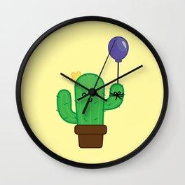 Cactus - Happy Wall Clock