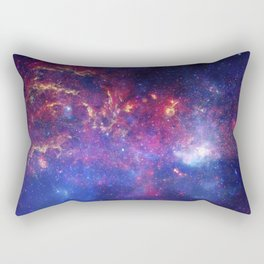 A matched trio of images of the central region of our Milky Way Rectangular Pillow