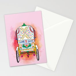 Indian Rickshaw Art 'Love is Love' Stationery Cards