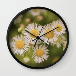 Little Vintage Daises Wall Clock