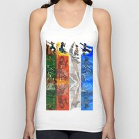 the legend of korra Tank Tops featuring Legend of Korra Elements by paulovicente