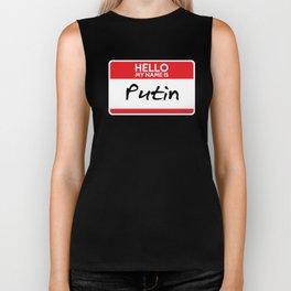 Putin Vladamir Russian President USSR Vlad Simple anti trump Halloween Costume Trick or Treat Gift Biker Tank