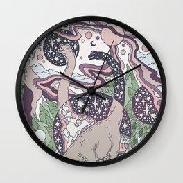 Jurassic Portal | Purple Haze Palette | Dinosaur Science Fiction Art Wall Clock