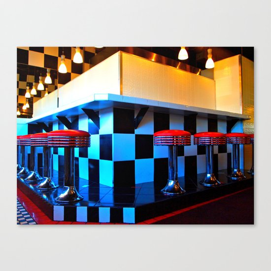 Alfred's diner Canvas Print