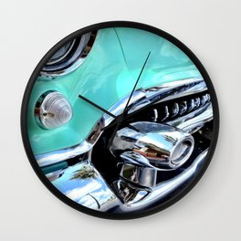 Turquoise Blue Vintage Car Wall Clock