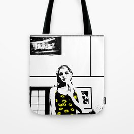 Sunflower Girl Tote Bag
