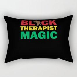 Black Therapist Magic Rectangular Pillow