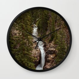 Rushing Judd Falls Wall Clock