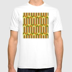 paper clips pattern White Mens Fitted Tee MEDIUM