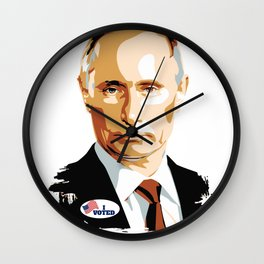 I Voted Vladimir Putin with USA I Voted Sticker Graphic Wall Clock