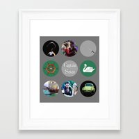 captain swan Framed Art Prints featuring Captain Swan by Your Friend Elle