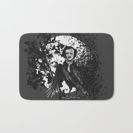 Unlikely Meeting in The Moonlight with Mr Edgar Allan Poe Bath Mat
