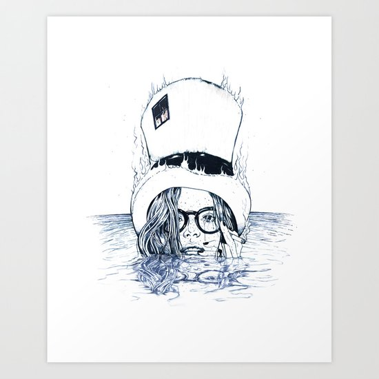 Chapeau Bleu Art Print