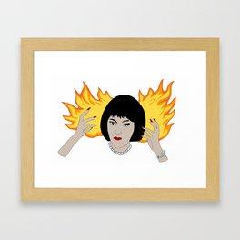 Flames! Framed Art Print
