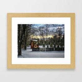 Hide Away Framed Art Print