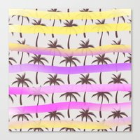 palm trees Canvas Prints featuring Palm Trees by Ornaart