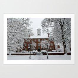Winter at Ohio University - Cutler Art Print
