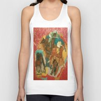 racing Tank Tops featuring Racing Collage by Connie Campbell