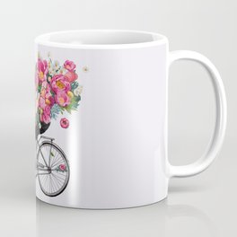 floral bicycle Coffee Mug