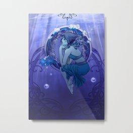 Ocean Nouveau  Metal Print