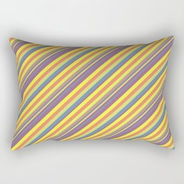 Summer Lights Inclined Stripe Rectangular Pillow