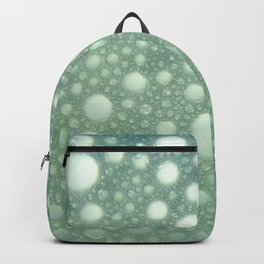 Abstract green teal modern polka dots texture pattern Backpack