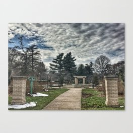 Rose Garden at Vander Veer Park Canvas Print