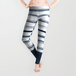 Watercolor Stripes Pattern Leggings