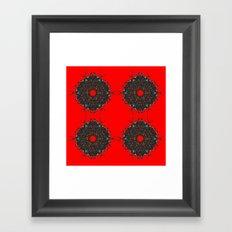 red stars Framed Art Print